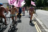 World Naked Bike Ride UK - Special Event in London.