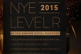 New Year's Eve 2015 at Level R (Empire Hotel Rooftop) - Party | Holiday Event in New York.