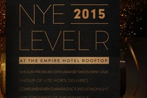 New Year's Eve 2015 at Level R (Empire Hotel Rooftop) - Party   Holiday Event in New York.