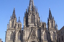 Barcelona Cathedral in Barcelona.