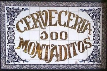 100 Montaditos - Spanish Restaurant in Barcelona.