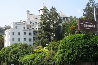 The famous Chateau Marmont in Los Angeles.
