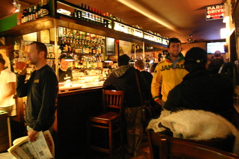 Drinking at the Irish Pub in Rome.