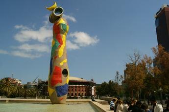 Parc Joan Miró - Park in Barcelona.